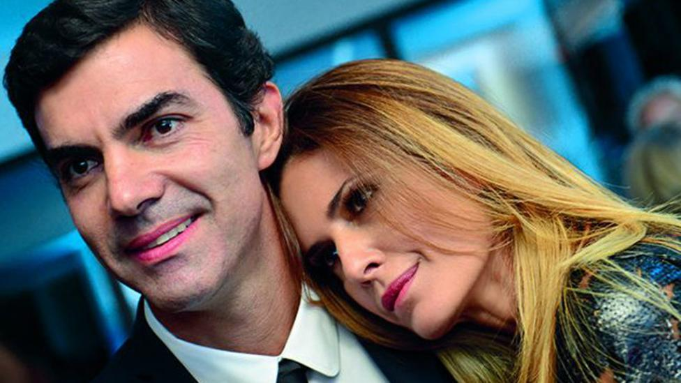 Isabel Macedo y gobernador