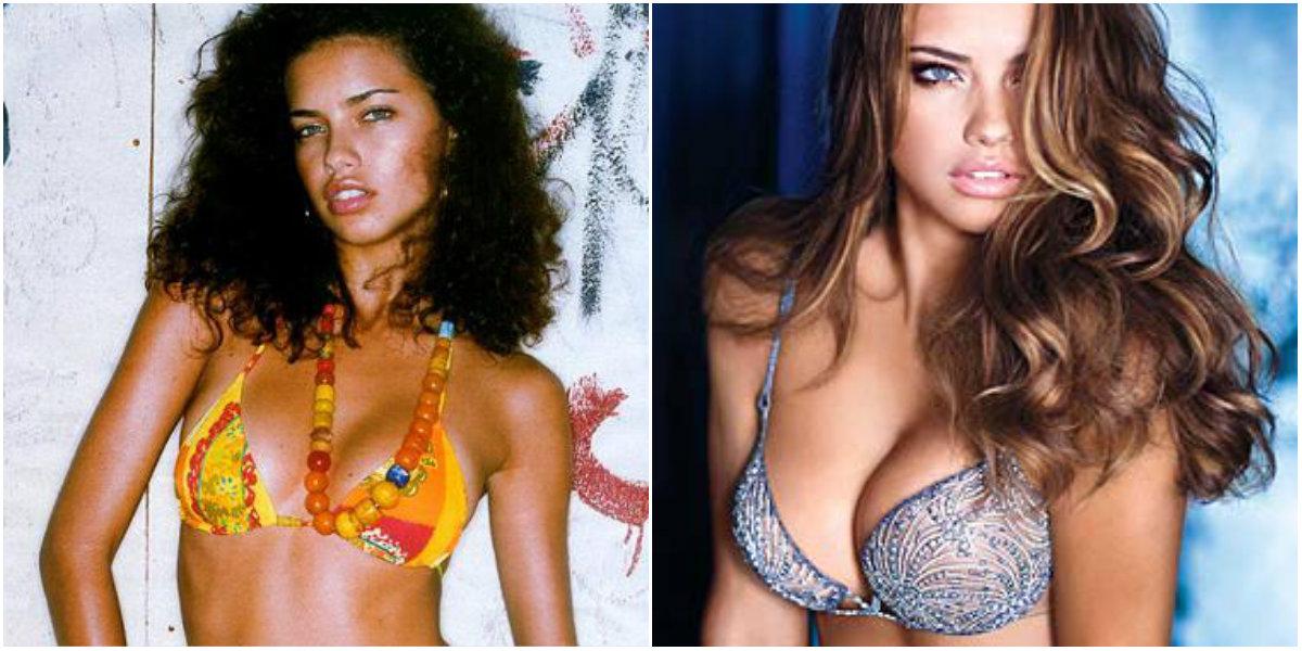 Adriana Lima antes y después