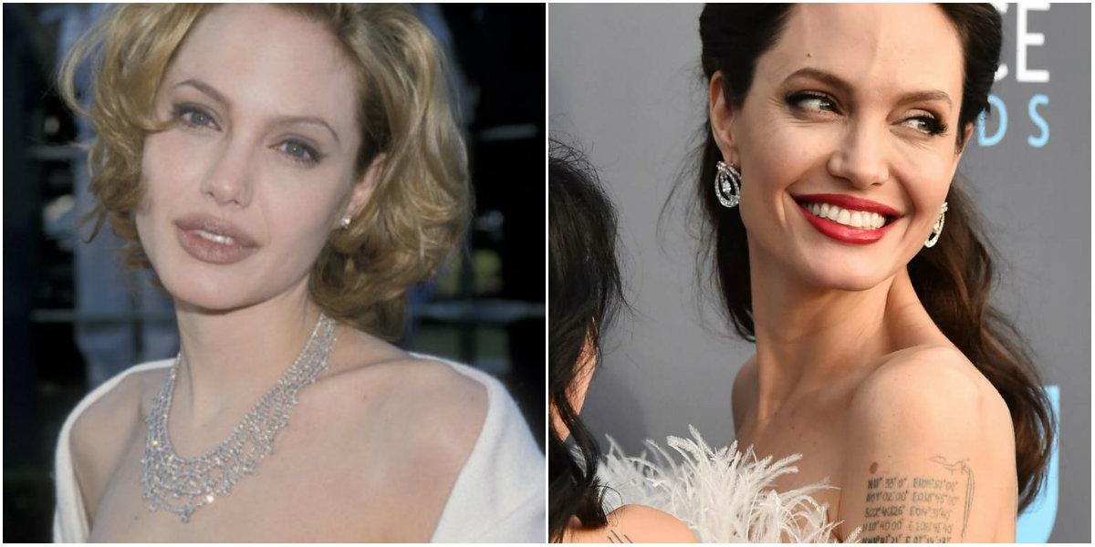 Cambios de Angelina Jolie