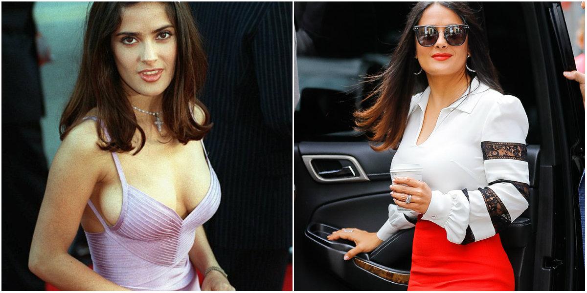 Antes y después de la actriz Salma Hayek