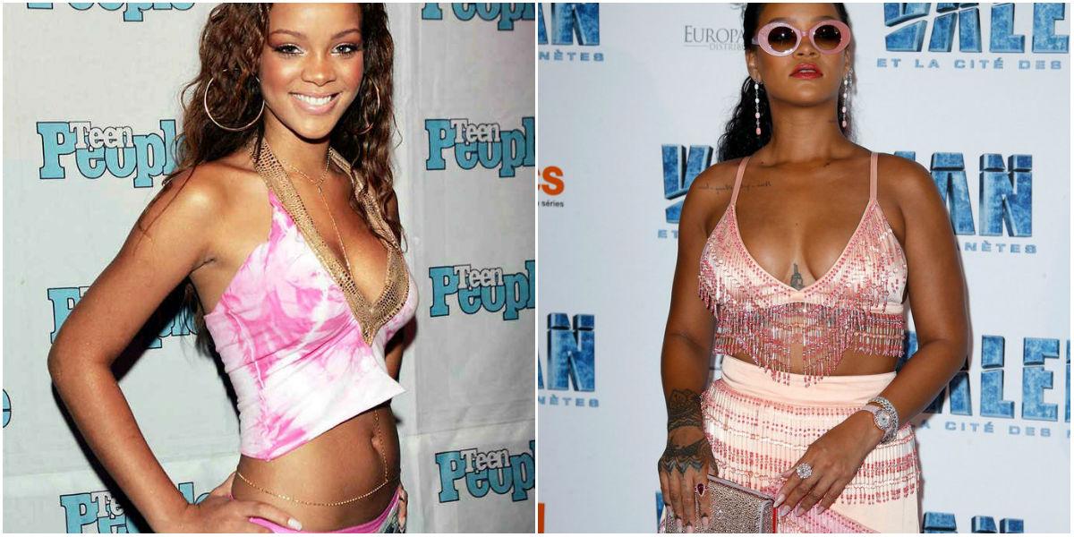 Aumento de peso de Rihanna